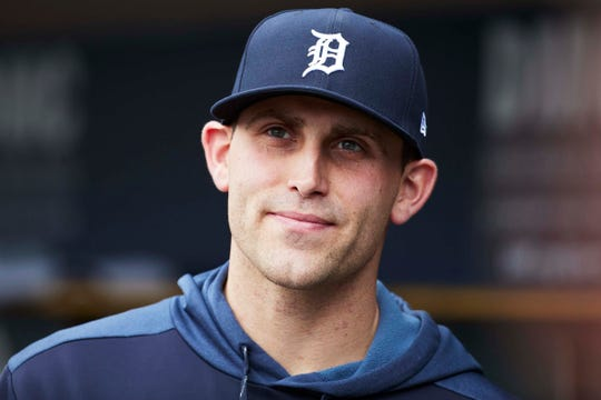 Tigers pitcher Matthew Boyd in the dugout prior to the game on Thursday, April 18, 2019, at Comerica Park.