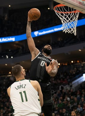 The max salary: does it actually benefit the Detroit Pistons?  |Andre Drummond Pistons Dunk