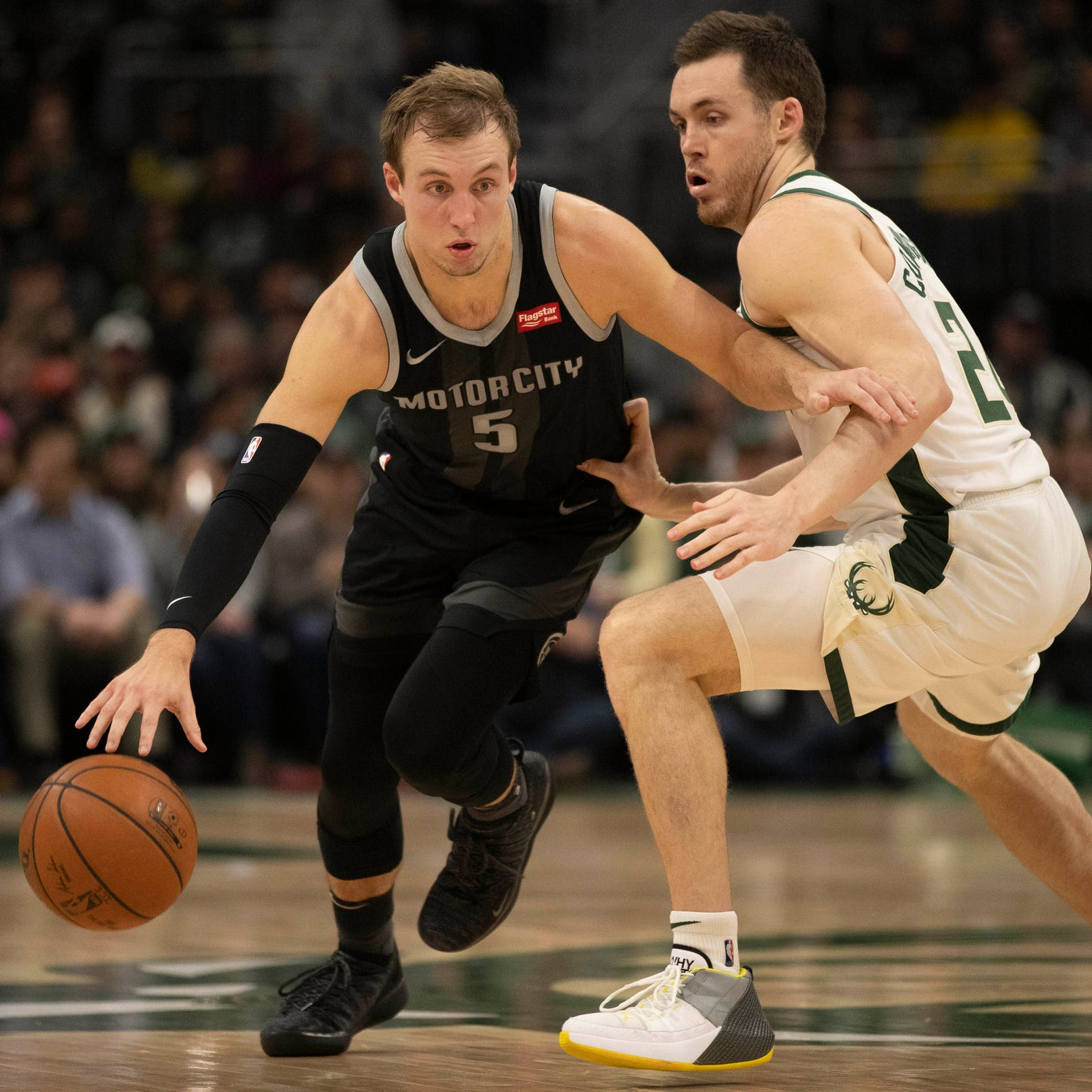 Detroit Pistons' Luke Kennard started in Game 2. He's probably there to stay