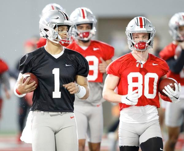 Ohio State quarterback Justin Fields hasn't played much football in the last two years.