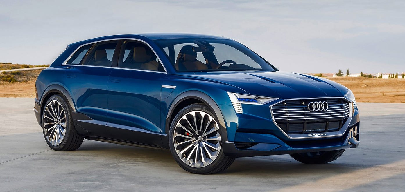 The Audi e-tron is the brand's first fully electric production car.