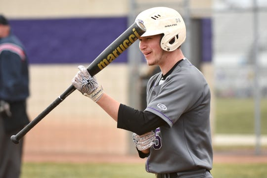 Woodhaven High School's Kyle Ray awaits his at-bat least week.