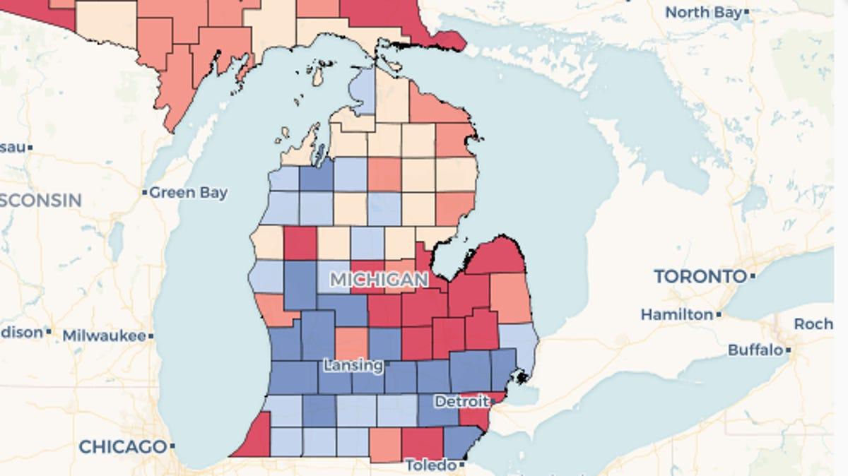 Metro Detroit Grand Rapids Lead Michigan In Population Growth