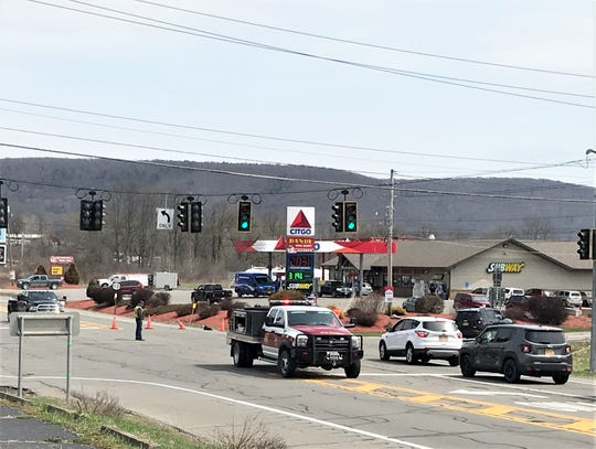 State Route 13 was closed from the intersection with state Route 224 at Alpine Junction northward following a multiple-vehicle accident Thursday afternoon.