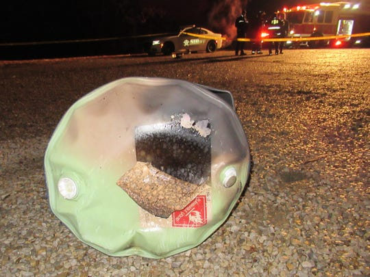 John Fritchley II stood in front of his Boonville, Ind., garage with a blowtorch and began to cut an end off of an empty 55-gallon steel drum to use as a burn barrel Sunday, February 11, 2018. The resulting explosion instantly killed Fritchley, 46.