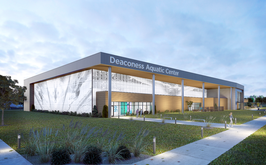 Exterior rendering of Deaconess Aquatic Center.