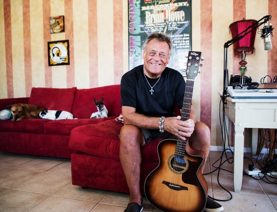 Former Bad Company lead singer Brian Howe is selling his Fort Myers Beach home and moving to Nashville. The longtime animal advocate plans to donate a portion of the sale to the Have a Heart Animal Foundation. He'll be holding an open house on April 27. He is shown with several of his dogs.