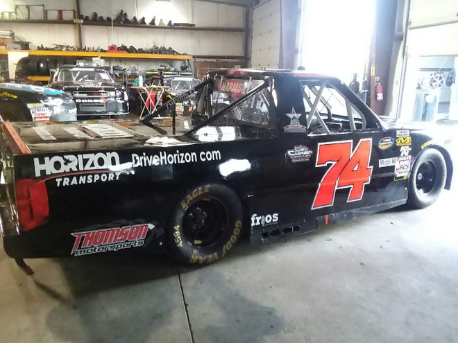 Green Bay's Lou Goss has purchased this NASCAR truck and plans to pursue a career racing trucks full time. His first race is slated for June 15 at Iowa Speedway.