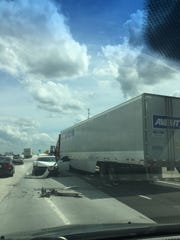 A wreck on I-385 on Thursday afternoon.