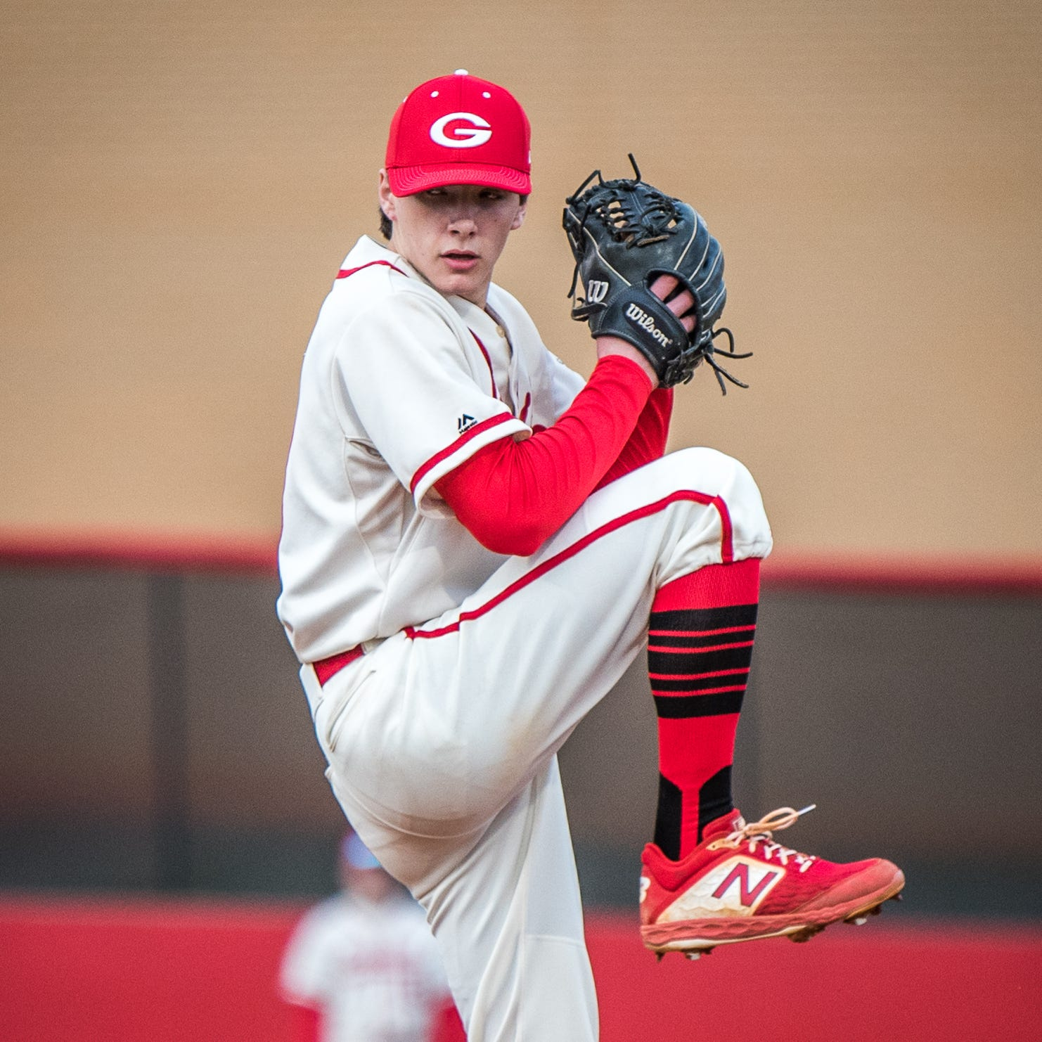 Greenville High pitcher Rocco Reid and the Red Raiders are the No. 1 seed in District 2 Class AAAA baseball playoffs.