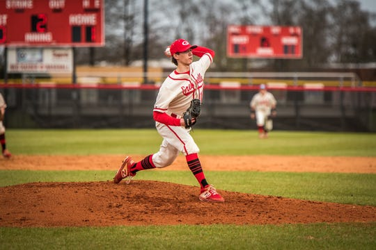 Greenville High starting pitcher Rocco Reid has struck out 62 batters in 38 innings pitched this season