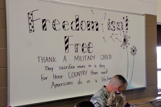 """A number of more than 100militaryfamily members were able to enjoy a """"Military Child Appreciation Breakfast"""" at Loy Elementary Thursday morning."""