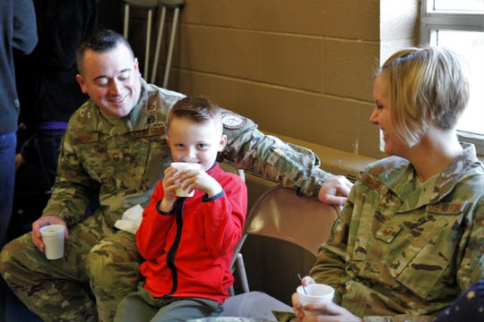 "A number of more than 100 military family members were able to enjoy a ""Military Child Appreciation Breakfast"" at Loy Elementary Thursday morning."