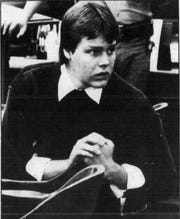 Steven Wayne Keefe is shown during his 1986 trial for a Great Falls triple homicide.