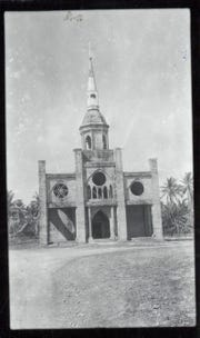 Inarjan Catholic Church is shown in this undated post-war photo