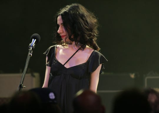 PJ Harvey is seen at the Vogue during a 2009 performance.