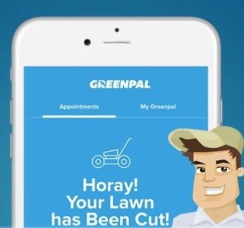 GreenPal mobile app animation