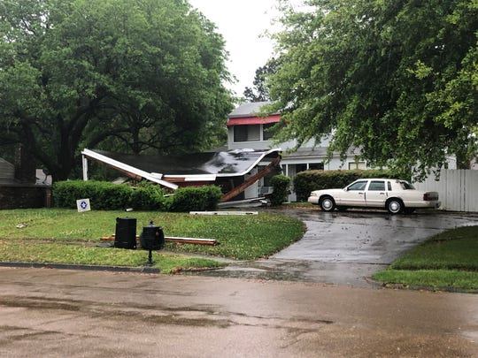 A home was damaged in Clinton during a storm on Thursday, April 18, 2019.
