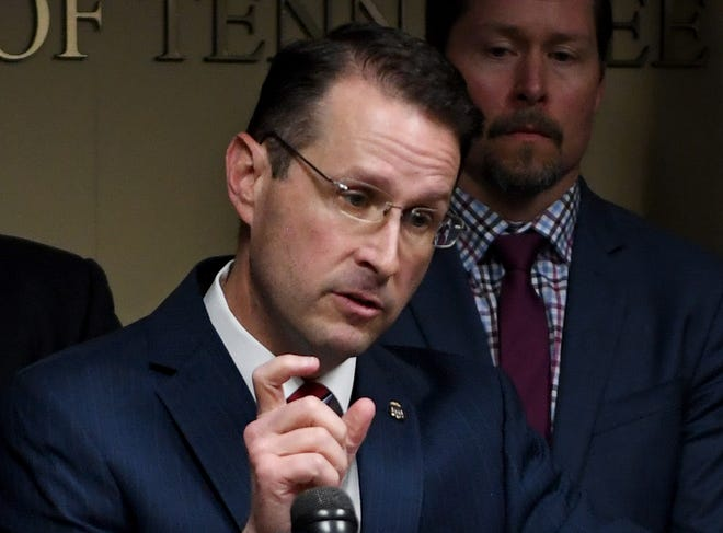 United States Attorney for the Western District of Tennessee D. Michael Dunavant announced the indictments of 16 west Tennessee doctors and nurse practitioners during a press conference, Thursday, April 18.