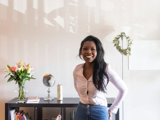 Charlene Izere, entrepreneur and wellness expert, has started a networking organization called Melanin & Money. Thursday, April 18, 2019.