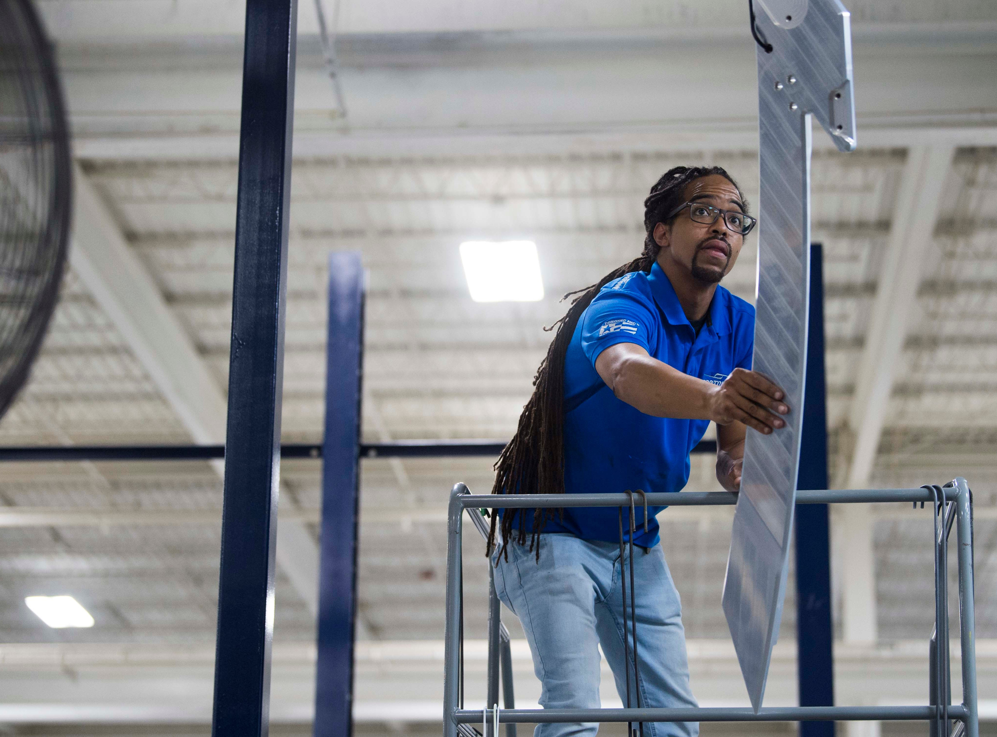 Trey Simmons of Oak Ridge works in Protomet Corporation's new $30 million, 244,000 square foot plant in Loudon County Thursday, April 18, 2019. When fully staffed the facility will create 200 new jobs for Loudon County.