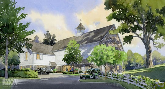 After Daryl Johnson's initial hand sketch, a watercolorist brought the image to life for the client, Blackberry Farm.