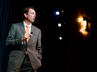 University of Tennessee Chancellor candidate Bill Hardgrave speaks at a forum on campus on Thursday, April 18, 2019