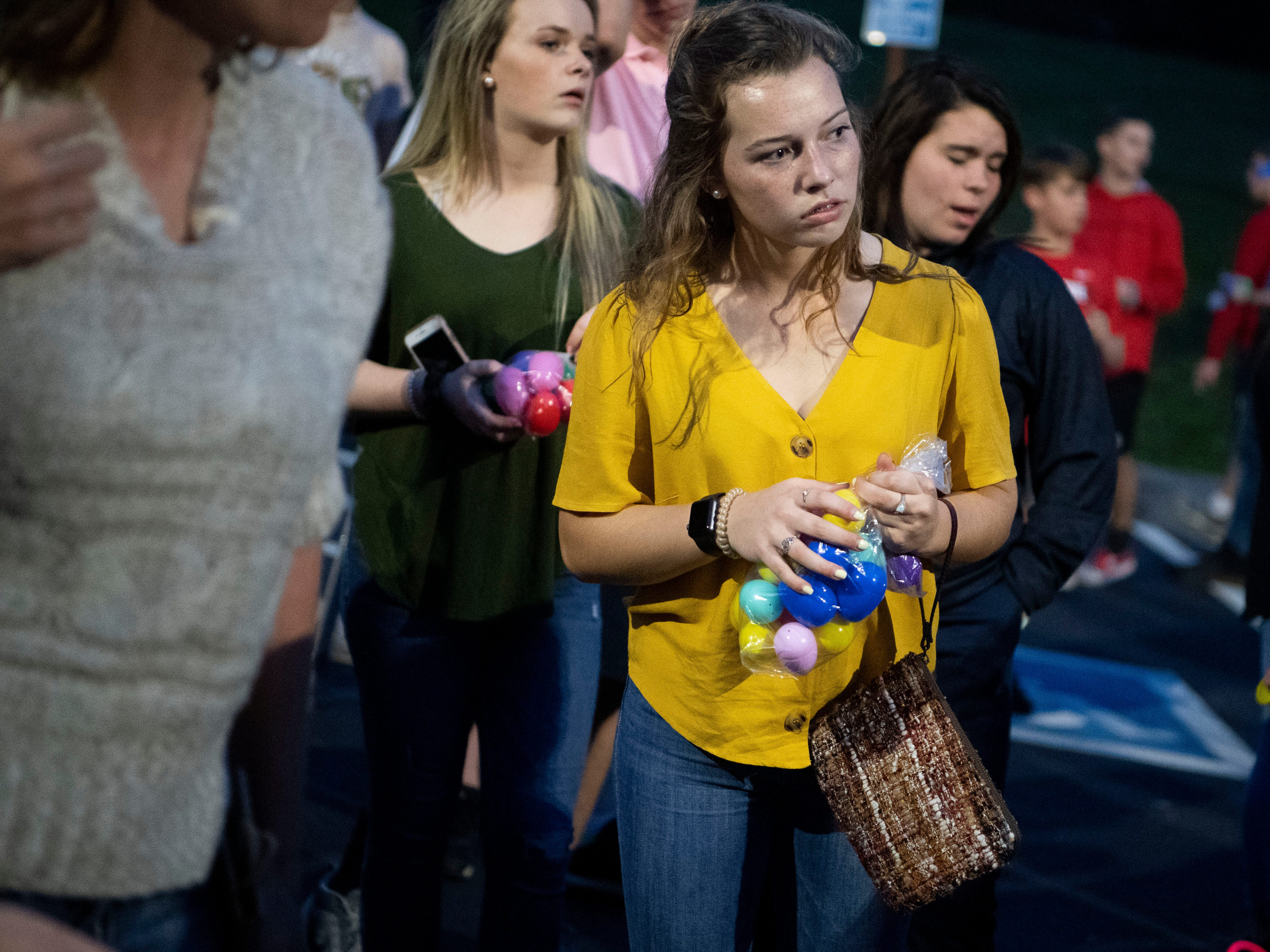 Faith Promise Church's north campus hold a battle royale themed easter egg hunt where teens searched eggs while trying to avoid being hit by foam darts on Wednesday, April 17, 2019.