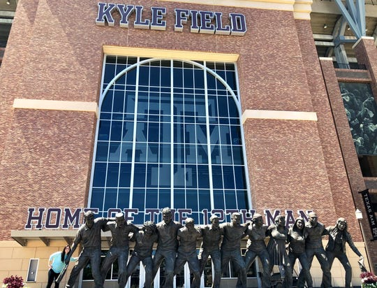The War Hymn Memorial at Texas A&M University.