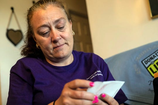 Carrie Parsley lost her 22-year-old daughter, Veronica Jecker, to an overdose in 2017 but takes comfort knowing that she lives on in others through her organ donations. April 14, 2019