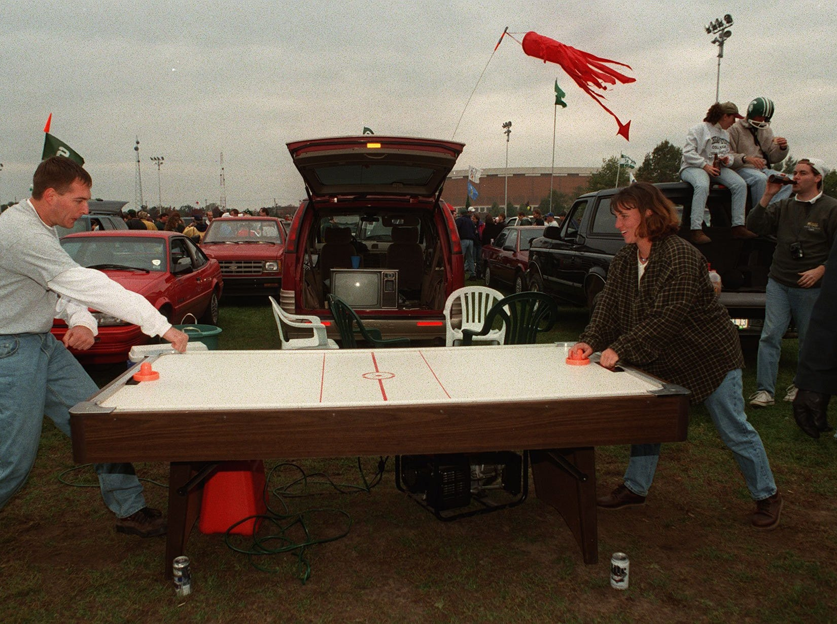Spartan tailgating throughout the years