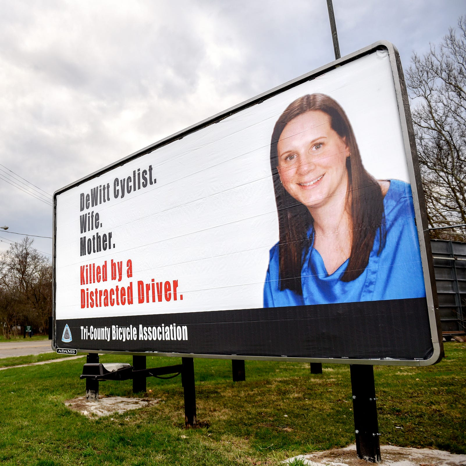 DeWitt cyclist Jill Byelich died because of a distracted driver. Her image reminds us to pay attention.