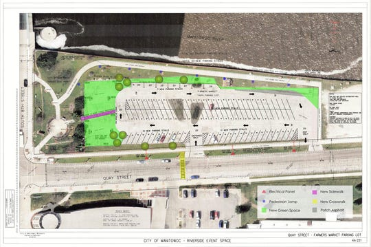 Improvements are planned for the Farmers Market Lot on Quay Street in Manitowoc.