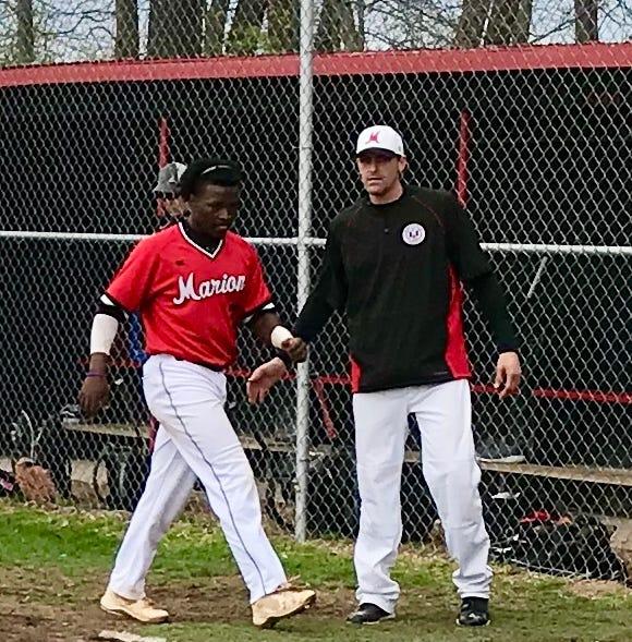 Marion Harding's Travis Boley coaching baseball like dad did