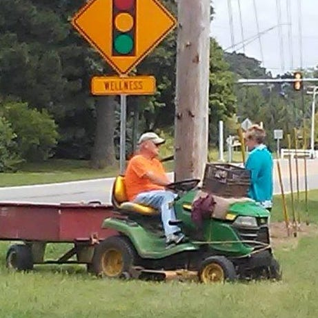 "MarionMade: Randall Huffman keeps roadsides manicured as Marion's ""Mower Man"""