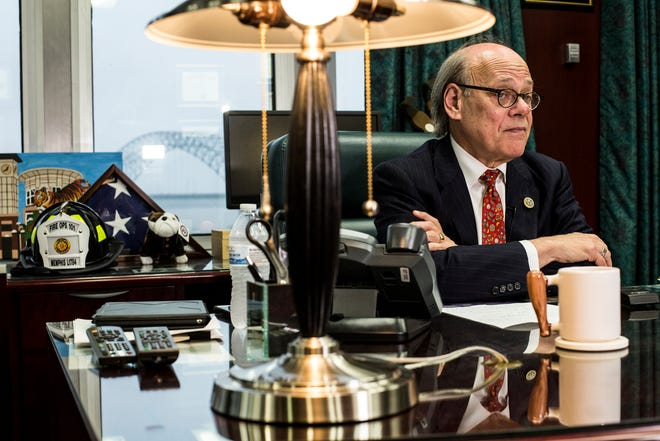 April 18, 2019 - U.S. Rep. Steve Cohen talks with media about the Mueller Report while in his office Thursday afternoon.