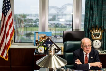 U.S. Rep. Steve Cohen talks with media about the Mueller Report while in his office Thursday afternoon.