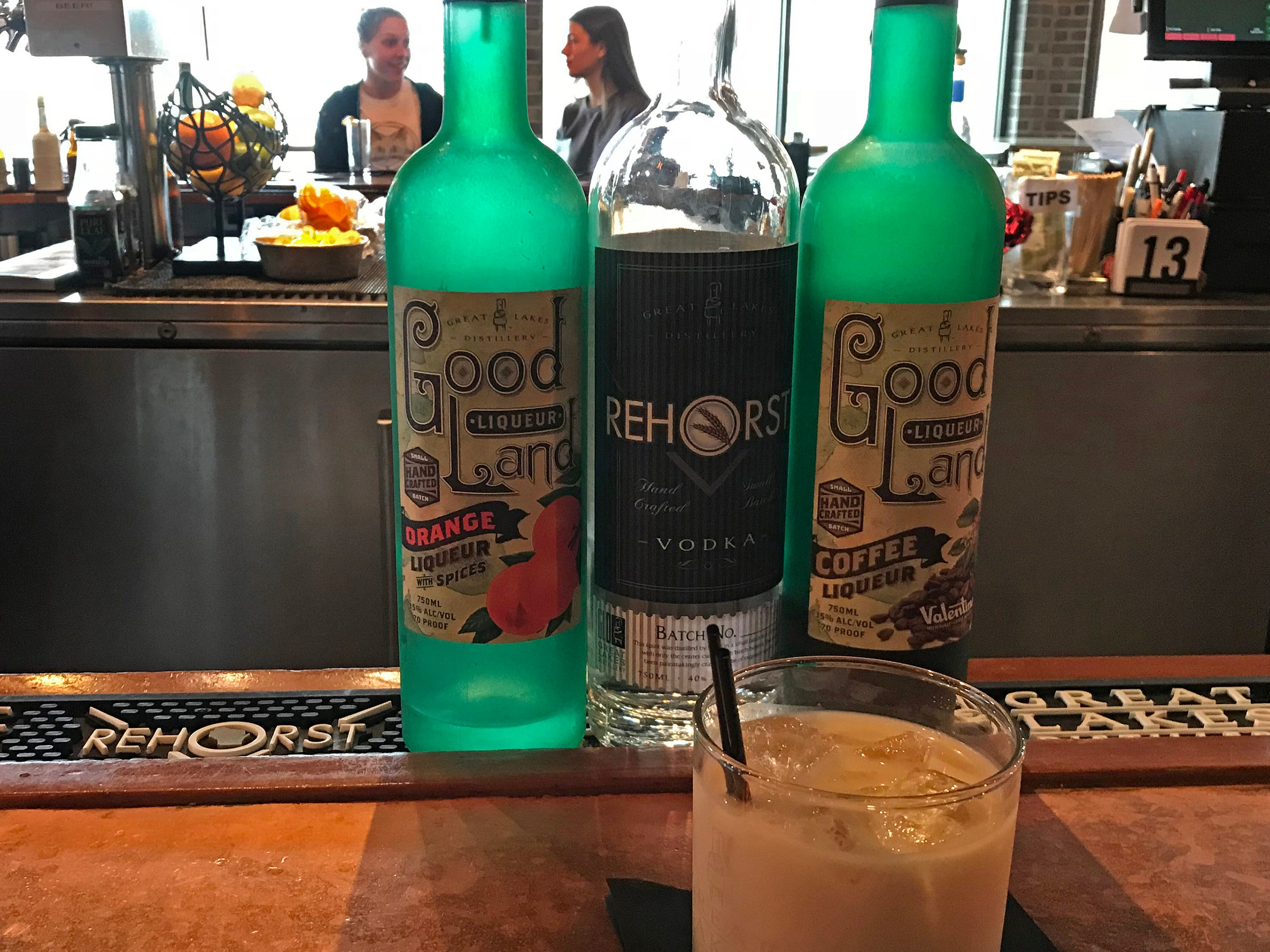 Great Lakes Distillery makes its White Russian with a hint of orange liqueur.