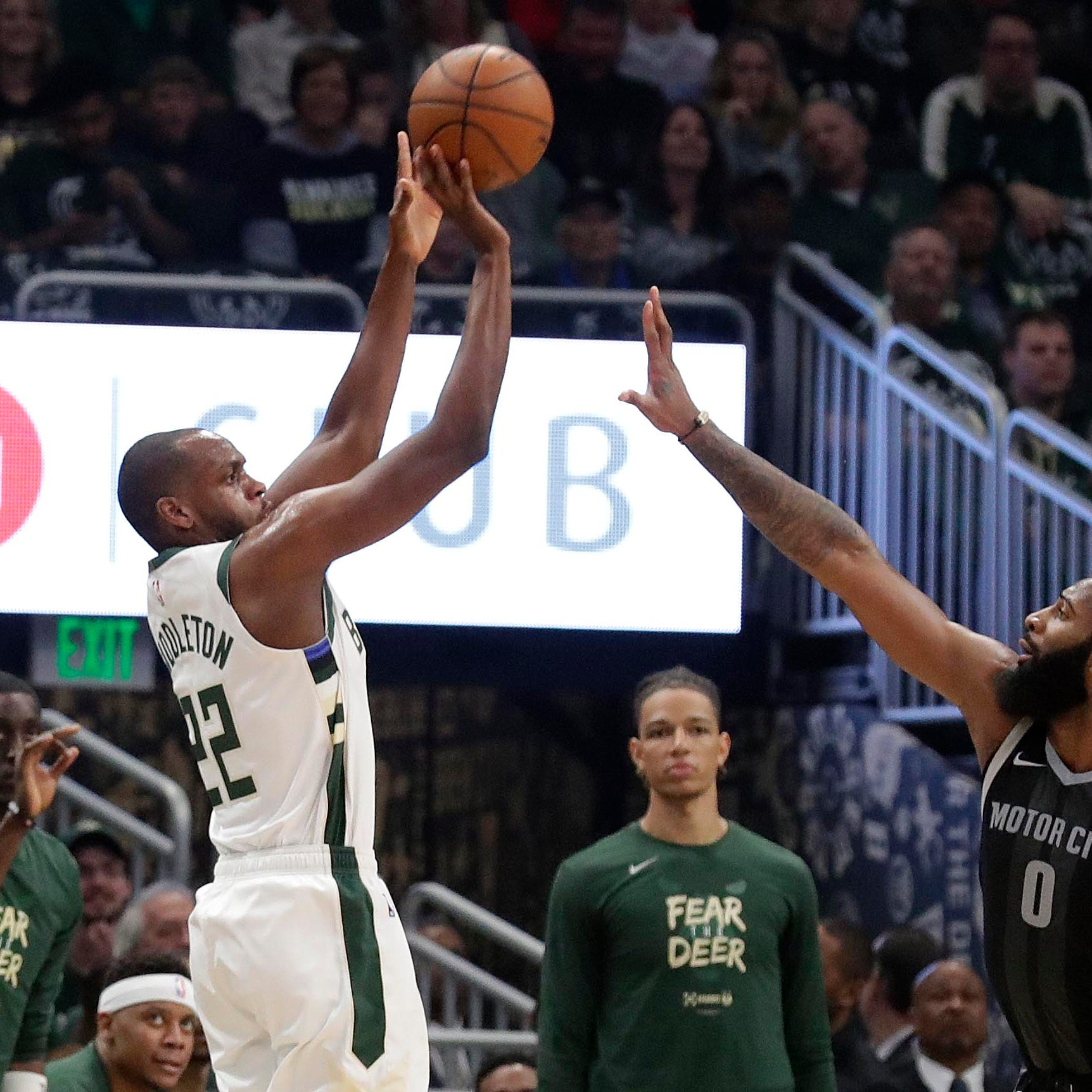 Khris Middleton is doing plenty for the Bucks. No one's really talking about him. He's OK with that.