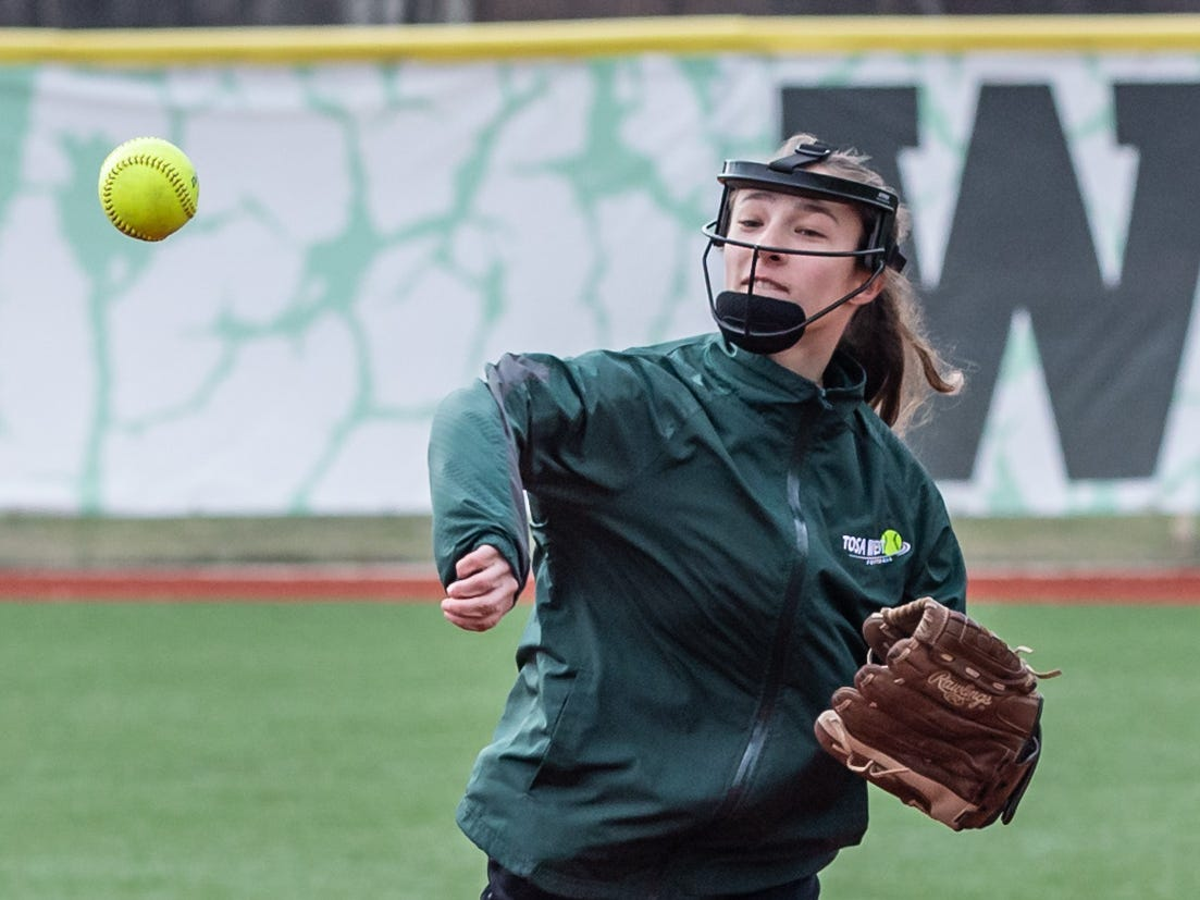 Wauwatosa West second baseman Jordan Scharf throws to first during the game at home against DSHA on Wednesday, April 17, 2019.