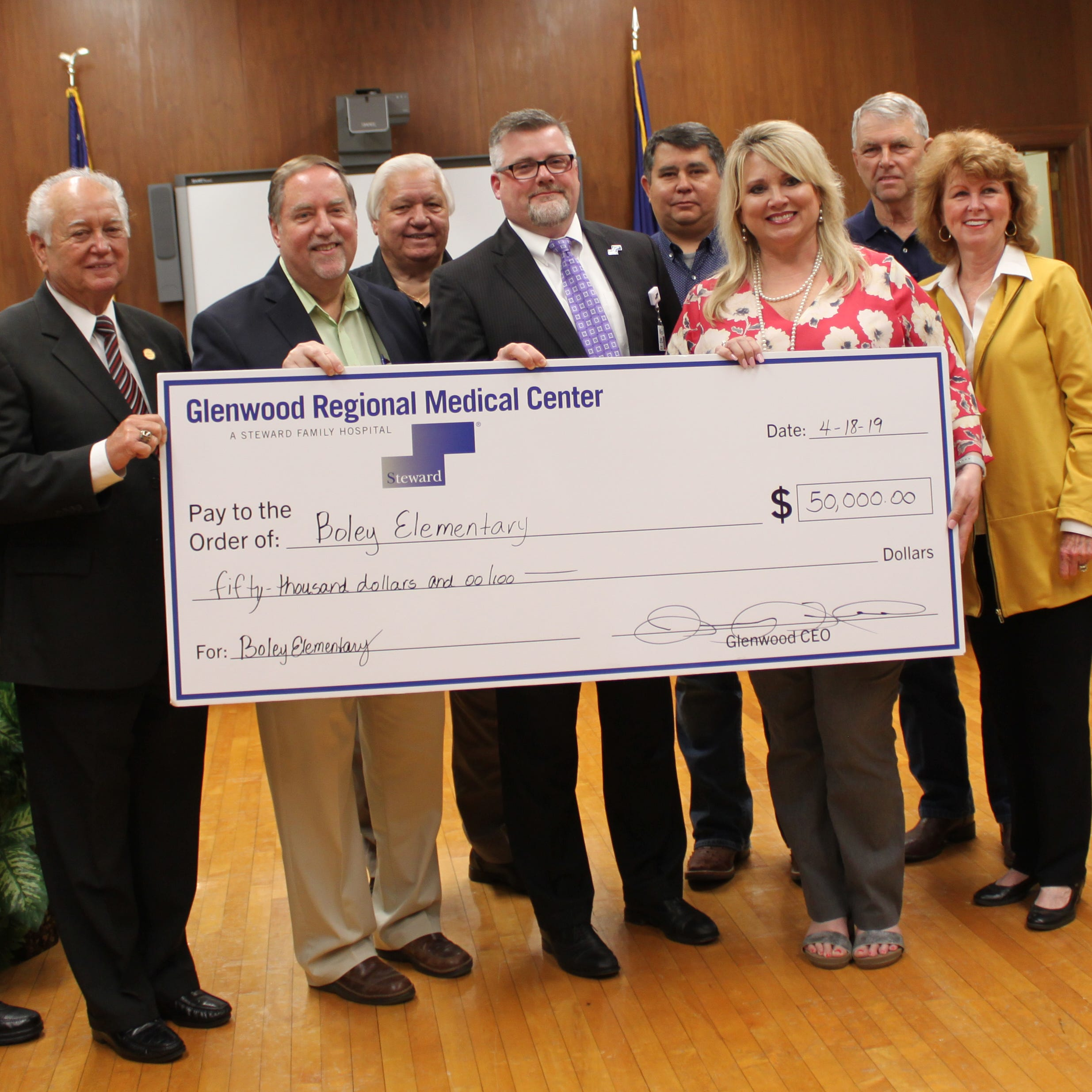 Glenwood donates $50K to Boley