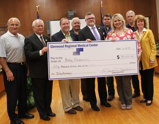 Glenwood Regional Medical Center donated $50,000 to help Boley Elementary School students and faculty on Tuesday.