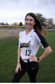 Central Magnet softball player Kali Penny.
