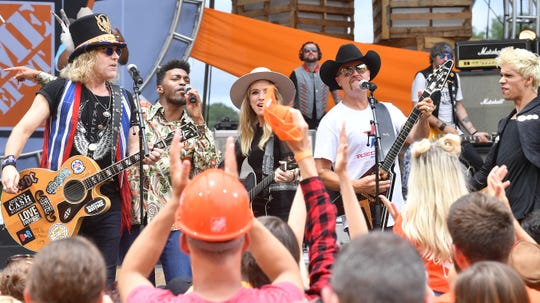 Big & Rich perform at The Woods at Fontanel Amphitheater for their opening for College GameDay in 2018.
