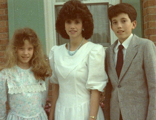 Matthew Paul Turner with his sisters, Elisabeth, left, and Kelley, on Easter morning 1989.