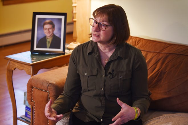 Jane Clementi, Co-Founder of the Tyler Clementi Foundation, speaks during an interview about NJ's conversion therapy ban, at her home in Ridgewood on 04/18/19. Jane is the mother of Tyler Clementi who died by suicide after being bullied because he was gay.