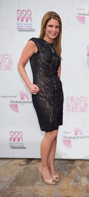 Julene Stassou at the Triple Negative Breast Cancer Foundation (TNBC) 2015 Peace, Love & A Cure event.