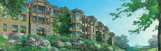 Elevation rendering of the Vista senior housing complex in Wyckoff.