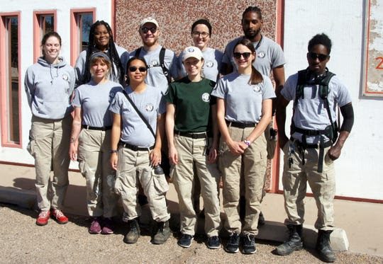 AmeriCorps NCCC Earth 4 members are in town to work primarily with Deming Cesar Chavez Charter High School students and the City of Deming retention pond project.
