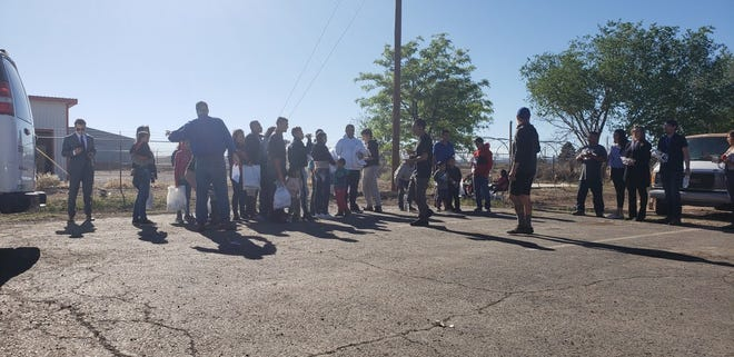 About 24 migrants arrive at the Gospel Rescue Mission on Thursday, April 18, 2019.